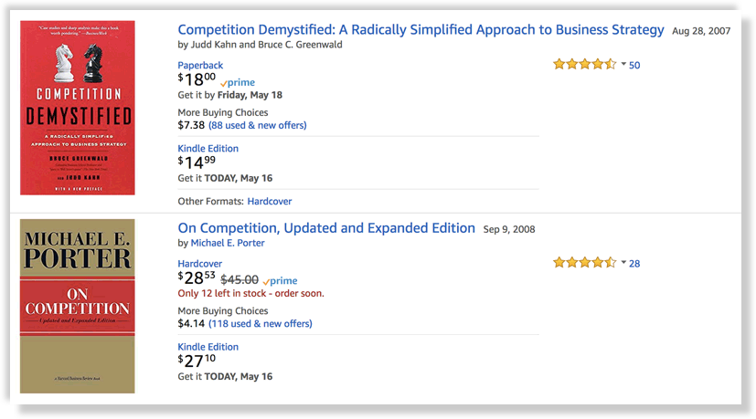 books about competition on Amazon