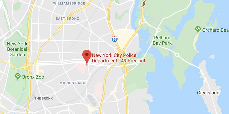 NYPD Ride Along location in the Bronx